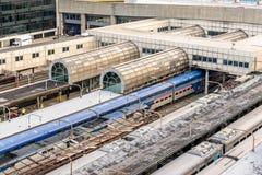 2 de outubro de 2014: Washington, C.C., trens puxou na união Statio Fotografia de Stock
