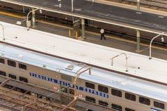 2 de outubro de 2014: Washington, C.C., trens puxou na união Statio Fotografia de Stock Royalty Free