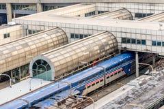 2 de outubro de 2014: Washington, C.C., trens puxou na união Statio Foto de Stock