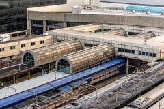 2 de outubro de 2014: Washington, C.C., trens puxou na união Statio Fotos de Stock