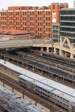 2 de outubro de 2014: Washington, C.C., trens puxou na união Statio Imagem de Stock