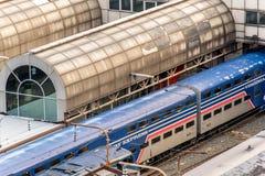 2 de outubro de 2014: Washington, C.C., trens puxou na união Statio Foto de Stock Royalty Free