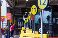 3 de outubro de 2014: Washington, terminal de ônibus da estação da união da C.C. Foto de Stock