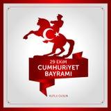 29 de outubro dia nacional da república de Turquia Foto de Stock Royalty Free