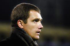 23 de outubro de 2012, Minsk Bielorrússia Viktor Goncharenko - treinador da equipe de futebol Foto de Stock
