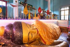 26 de outubro de 2018 - Siem colhe:: escultura em Wat Preah Prom Rath fotos de stock royalty free