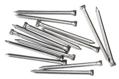 De ovale spijkers van de staaldraad Royalty-vrije Stock Foto's