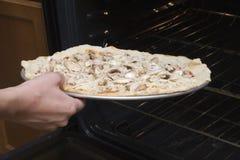 In de oven stock foto