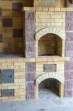 De oven en de open haard stock afbeelding