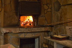 De oven van de brand Stock Foto's