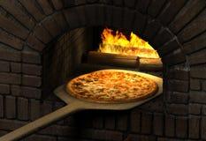 De Oven van de pizza Stock Foto