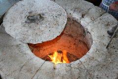 De oven van het brood Stock Afbeeldingen