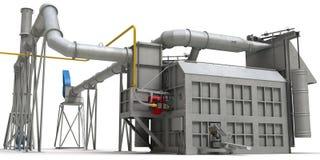 De oven van het smelten van metaal op witte achtergrond Royalty-vrije Stock Foto