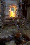 De oven voor het koken van glas Stock Foto's