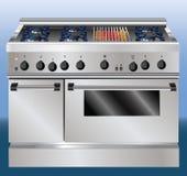 De ovenillustratie van de keuken Stock Foto