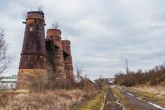 De ovens van de ruïnekalk, Nationaal cultureel monument stock fotografie