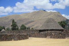 De overblijfselen van de Inca-gebouwen Royalty-vrije Stock Fotografie