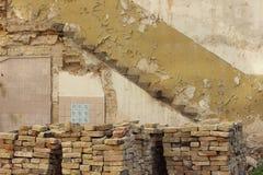 De overblijfselen van het vernietigde huis Royalty-vrije Stock Foto's