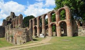 De overblijfselen van St Botolph Priorij een Middeleeuws godsdienstig huis Van Augustinus in Colchester Stock Afbeeldingen