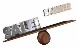 De overbrugde Barrière voor Verkoop verkoopt Klanten ziet Zaag vector illustratie