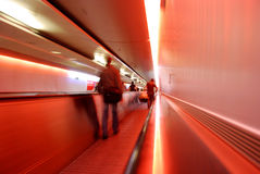 De overdracht van de luchthaven (samenvatting) stock foto