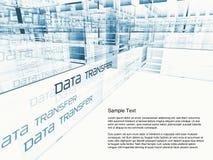 De Overdracht van gegevens Stock Afbeeldingen