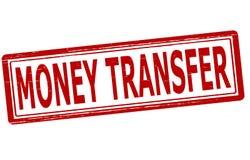 De overdracht van het geld royalty-vrije illustratie