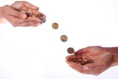 De Overdracht van het geld Stock Afbeelding