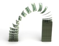 De Overdracht van het geld Royalty-vrije Stock Foto's
