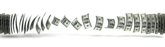 De Overdracht van het geld Stock Foto's