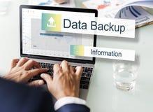 De Overdrachtconcept van de gegevens Reserveopslag royalty-vrije stock afbeeldingen