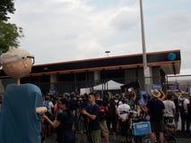 De Overeenkomst van Bernie Sanders Supporters Protest DNC Stock Foto