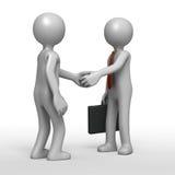 De overeenkomst van de handdruk stock illustratie