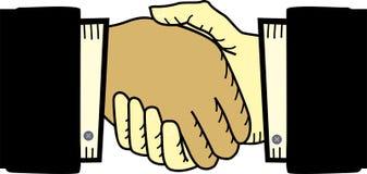 De overeenkomst van de handdruk Stock Afbeeldingen