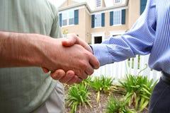 De Overeenkomst van de handdruk Stock Fotografie