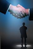 de overeenkomst van de handdrukvisie Royalty-vrije Stock Fotografie