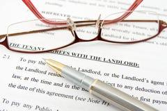 De overeenkomst van de huurder met de eigenaar Royalty-vrije Stock Fotografie