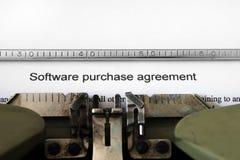 De overeenkomst van de softwareaankoop Stock Foto's