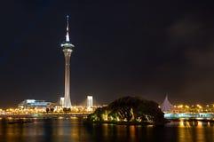 De Overeenkomst van de Toren van Macao en het Centrum van het Vermaak Stock Foto's