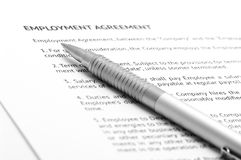 De overeenkomst van de werkgelegenheid Royalty-vrije Stock Fotografie