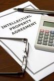 De Overeenkomst van het Intellectuele eigendom Royalty-vrije Stock Foto