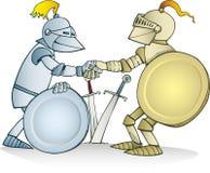 De overeenkomst van ridders Stock Afbeelding