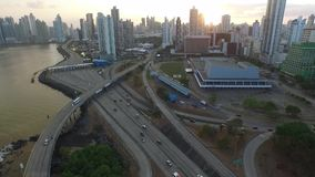 De overeenkomstcentrum van Panama stock footage