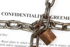 De overeenkomstensamenvatting van Onfidentiality Stock Foto's