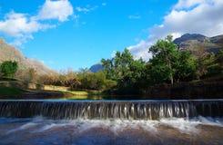 De overgang van de rivier stock foto