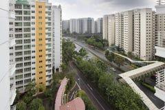 De Overheidshuisvesting van Singapore Stock Afbeelding