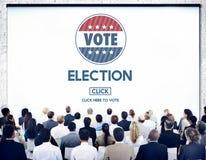 De Overheidskeus van de verkiezingsstem Stemmingsconcept stock fotografie