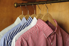 De overhemden van de close-up stock afbeeldingen