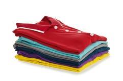 De overhemden van het polo Stock Afbeelding