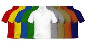 De Overhemden van het Polo van de kleur Stock Foto's